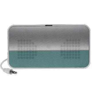 Silver speaker half and half