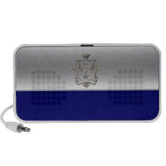 Silver speaker  half and half crest