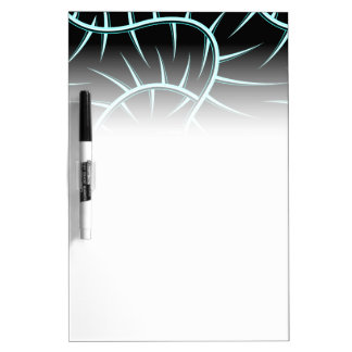 Silver spikes dry erase board