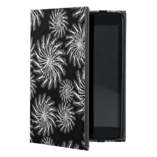 Silver spinning stars on black color background cover for iPad mini