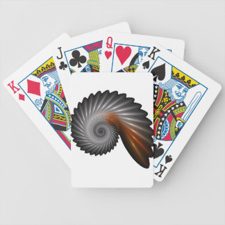 Silver spiral bicycle playing cards
