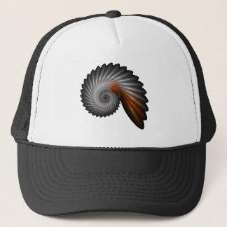 Silver spiral trucker hat