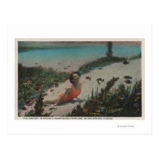 Silver Springs, FL - Woman Swimming Underwater Postcard