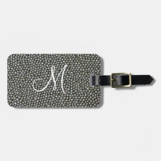 Silver Sprinkles Monogram Luggage Tag