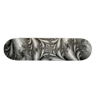 Silver Square Spiral Skateboard