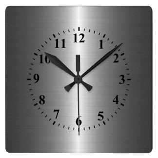 Silver Stainless Steel Metal Clocks