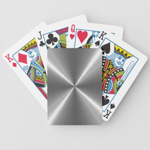Silver Stainless Steel Metal Poker Cards