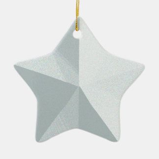 Silver Star Christmas Ornament Customisable