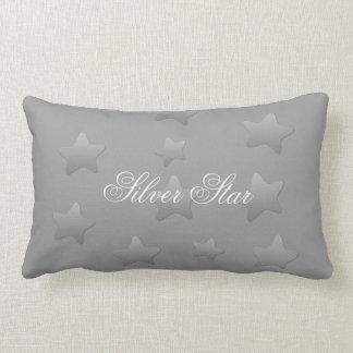 Silver Star Grey Throw Cushion