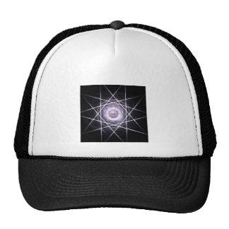 Silver star mesh hats