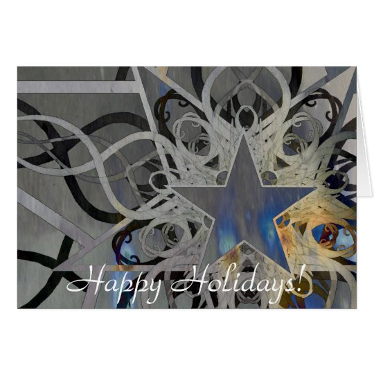 Silver Star Holiday Card