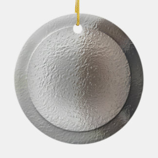 Silver Star- In Moonlight Reflection Round Ceramic Decoration