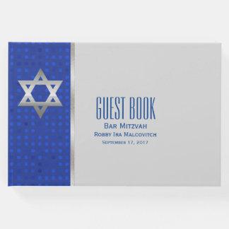 Silver Star of David Bar Mitzvah Guest Book