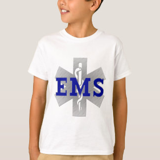Silver Star of Life with Blue EMS T-Shirt
