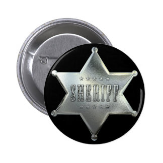 Silver Star Sheriff Badge