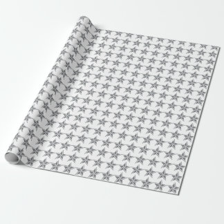 Silver Star Wrapping Paper