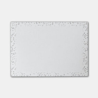 Silver Stardust Confetti Wedding Planner Post-it Notes