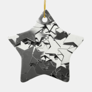 silver stars Christmas Ornament