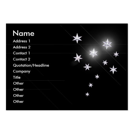 Silver Stars - Chubby Business Card