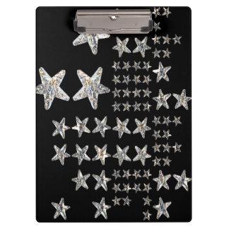 Silver Stars Clipboard