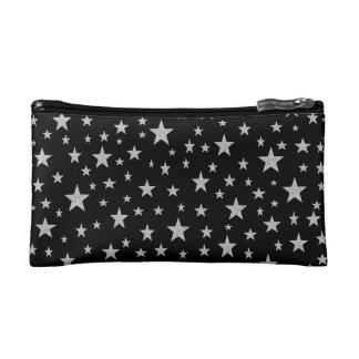 Silver Stars Cosmetic Bag