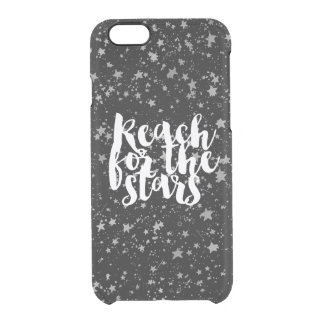 Silver Stars Inspirational Quote Clear iPhone 6/6S Case