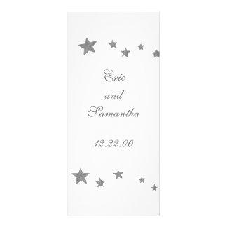 Silver Stars, menu cards Rack Card Template