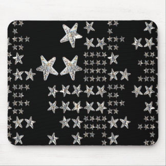 Silver Stars Mouse Pad