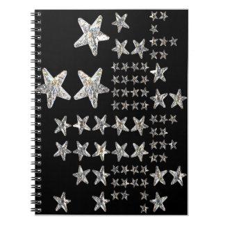 Silver Stars Notebook
