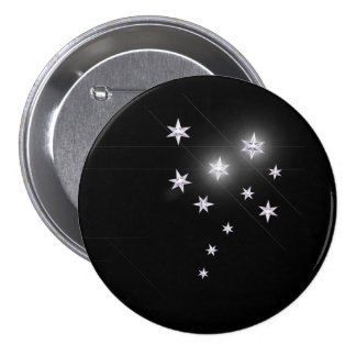 Silver Stars on Black Buttons
