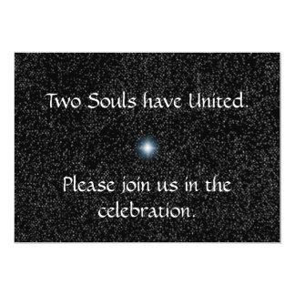 Silver Stars on Black Wedding Invitations