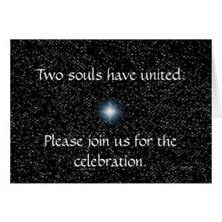 Silver Stars on Black Wedding Invitations Cards