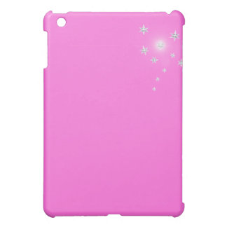 Silver Stars on Pink Case For The iPad Mini