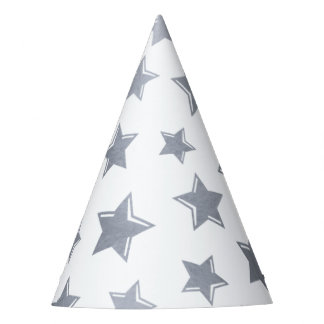 Silver Stars Party Hat