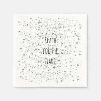 Silver Stars Personalized Paper Napkin