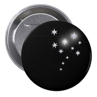Silver Stars Pinback Buttons