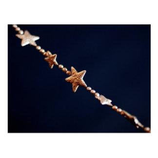 Silver stars postcard