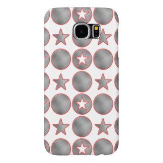 Silver Stars Samsung Galaxy S6 Cases