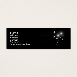 Silver Stars - Skinny Mini Business Card