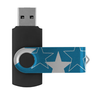 silver stars USB Flash Drive