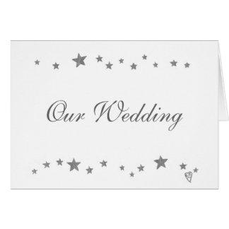 Silver Stars, wedding invitation cards