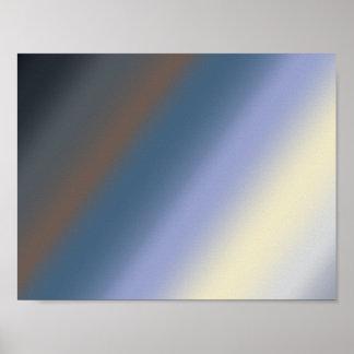 Silver/steal blue blends artwork poster
