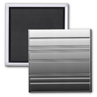 Silver Steel Square Magnet by Heard_