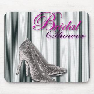 Silver Stilleto Modern Bridal Shower Mouse Pads