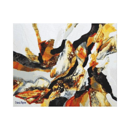 Silver Stonescape Stretched Canvas Prints