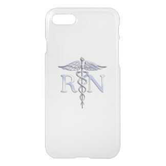 Silver Style RN Caduceus Medical Mother Pearl iPhone 7 Case