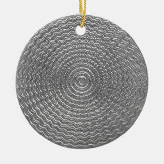 silver sun round ceramic decoration