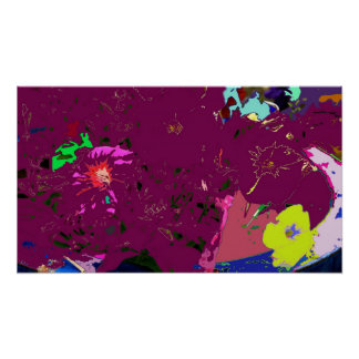 Silver Surfing Abstract Expressionism Poster Print