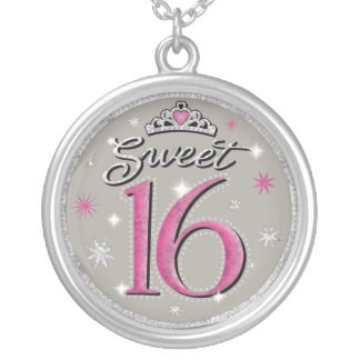 Silver Sweet 16 Bithday Necklace