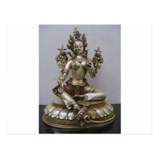 SILVER TARA BUDDHIST GODDESS POST CARDS